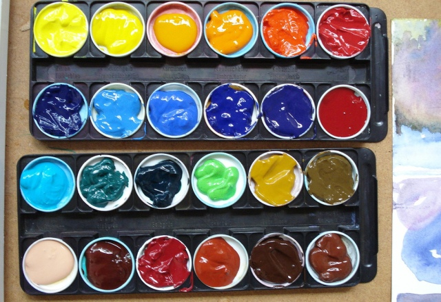 New watercolour palette selection - DailyPic